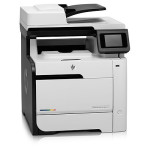 HP Colour LaserJet M475dn MFP, Print/Scan/Copy/Fax, A4, 20ppm (B/C), USB/Network Interface, Auto Duplex, CLJ475DN(CE863A)