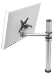 Visidec Focus LCD Single Swing Arm Silver Pole with Chrome Articulated Arm (Direct Mount).