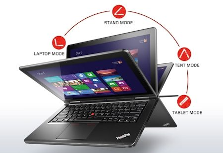 "LENOVO YOGA I5-4200U, 12.5"" HD, 128G SSD, 4GB RAM, HD4400 W8.1(PRO)64, 1YR, 20CD0018AU"