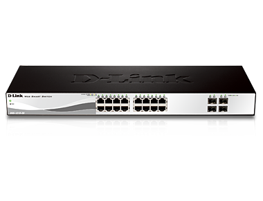 20-Port Gigabit WebSmart Switch with 16 UTP and 4 SFP Ports