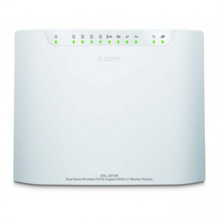 D-Link DSL-2870B Dual Band Wireless N750 Gigabit ADSL2+ Modem Router