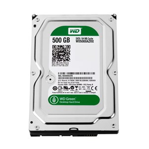 WD GREEN,500GB,INTELLIPOWER,SATA3,64MB,2YRS,WD5000AZRX