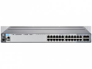 HP 2620-24-PPOE+ SWITCH, LAYER 2, 24 X 10/100 + 2 X GIG + 2X SFP PORTS, MANAGED, LIFE WTY, J9624A