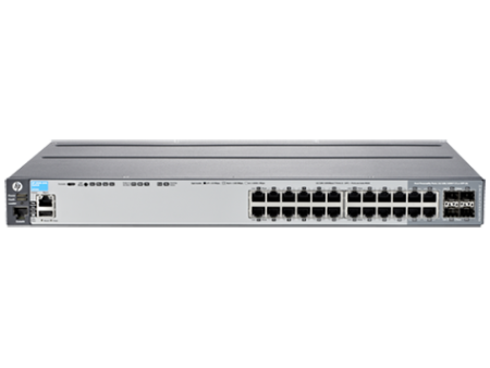 HP 2620-24-POE+ SWITCH, LAYER2, 24 X 10/100 + 2 X GIG + 2 XSFP PORTS, MANAGED, LIFE WTY, J9625A