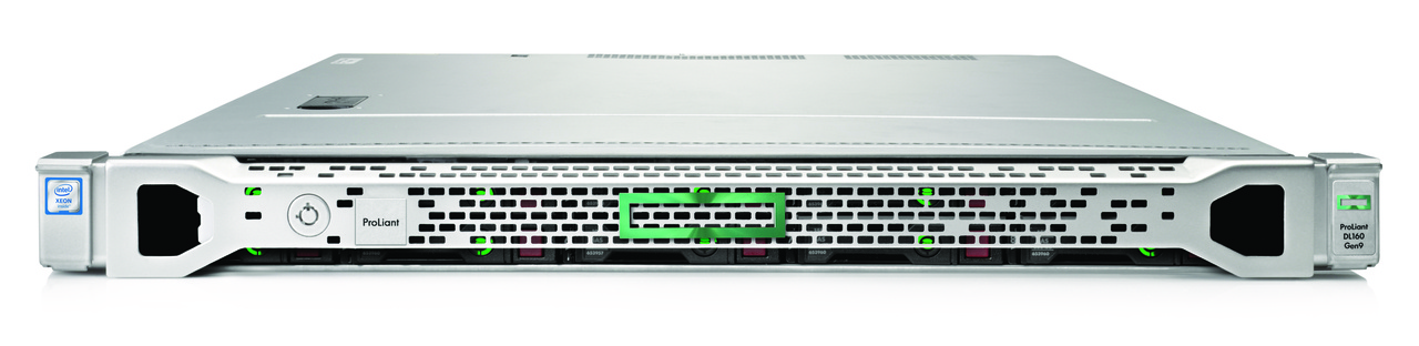 HPE DL160 G9 E5-2630V4 (1/2), 8GB (1/8), SATA-2.5 (0/8), B140I, NO CD, RACK, 3 YR, 848825-375