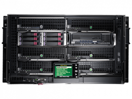 HPE BLc7000 Platinum Encl with1PH 6PS 10 FAN 16 Insight Control Licenses, 681842-B21