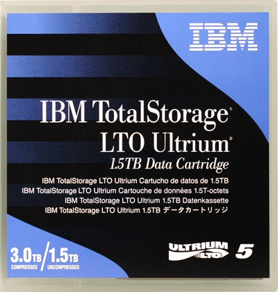 IBM LTO5- 1.5/3.0TB DATA CARTRIDGE, 46X1290