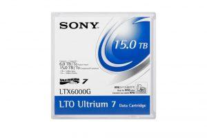 SONY LTO7 - 6.0TB/15.0TB,LTX6000G, THERMO, W/CASE, NO LABEL